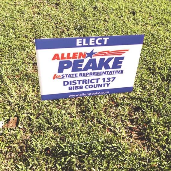 Allen Peake Campaign Sign